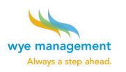 Wye Management, always a step ahead.